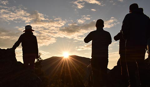 黑斑山の山頂 イメージ